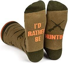 Lavley - I'd Rather Be Hunting - Men's Novelty Socks - Fun Dress Socks For Work (Hunter))