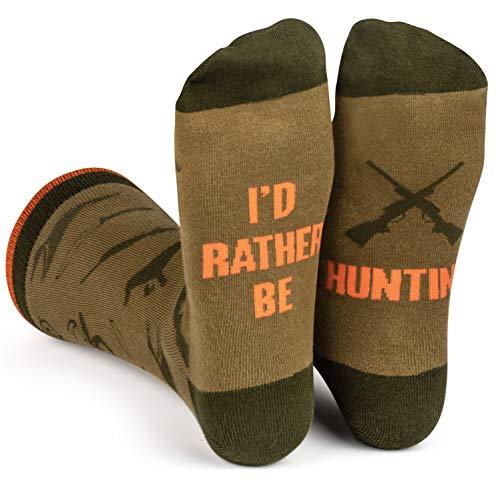 Lavley - I'd Rather Be Hunting - Men's Novelty Socks - Fun Dress Socks...