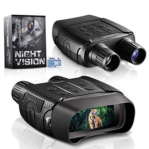 """Night Vision Binoculars for Hunting in 100% Darkness - Digital Infrared Goggles for Viewing 984ft/300M in The Dark with 2.31"""" LCD Screen, Take Day or Night IR Photos & Video with 32G TF Card"""