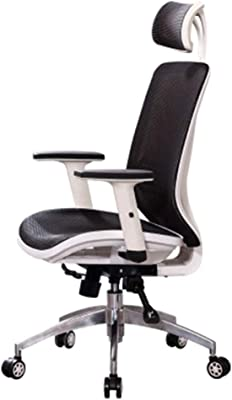 LJFYXZ Home Computer Chair, Lazy Swivel Chair Silla ergonómica Mesh Lying Lifting handrail