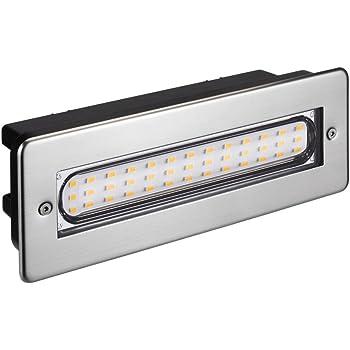 Parlat LED lámpara de Escalera lámpara empotrable en la Pared para el Exterior Angular 20x7cm 230V Blanca cálida: Amazon.es: Electrónica
