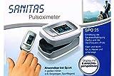 Sanitas Pulsoximeter SPO 25 - Ermittelt Sauerstoffsättigung & Herzfrequens (Puls)