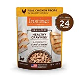 Instinct Healthy Cravings Grain Free Real Chicken Recipe Natural Wet Cat Food Topper by Nature's...