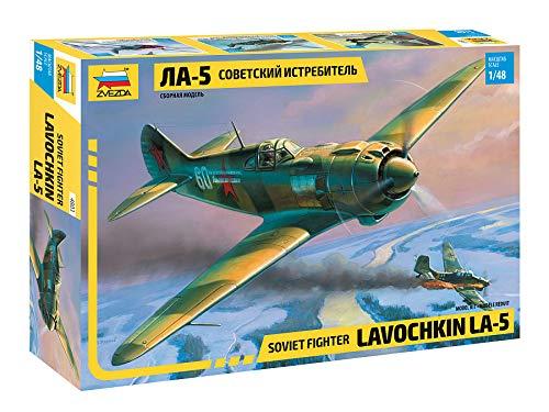 "ZVEZDA 4803 - Soviet Fighter LAVOCHKIN LA-5 - Plastic Model Kit Scale 1/48 151 Details Lenght 7"""