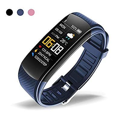 oriver C5 Fitness Tracker, Activity Tracker Watch with Heart Rate Monitor, Pedometer Watch for Kids Women and Men, Blue