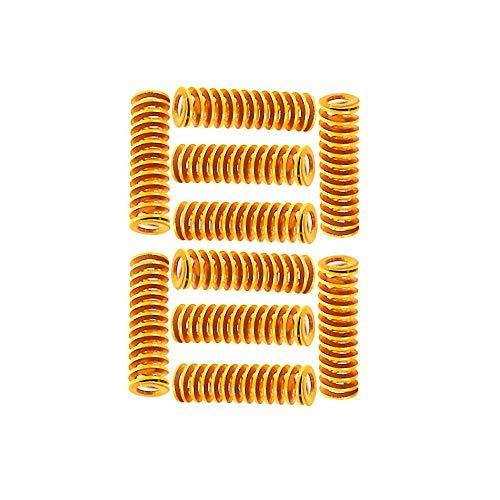 Furiga Letto Riscaldato Die Molle per Ender 3 Stampante 3D CR-10 10 S S4 8x20mm Fondo Collegare Livellamento Luce Carico Compressione Molla