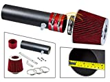 S & T RACING INC MATTE BLACK PIPE RED - SHORT RAM INTAKE Compatible For 94-96 Chevy IMPALA/CAPRICE/ROADMASTER STSI-CH-ST16RDB