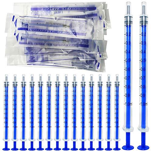 Gebildet 70pcs 1ml Sterile Spritzen,Öl-Dosierungsspritze (ohne Nadeln) mit Kappen,für Kleine Haustierfütterung Industrielle Präzisionsanwendung