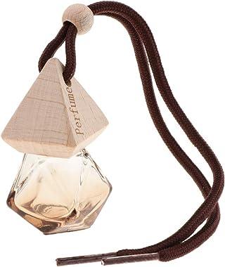 FLAMEER 6ML Empty Perfume Glass Bottle CAR FRESHENER Slate Scent - Coffee, 6 x 2.5cm
