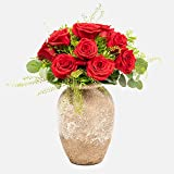 Ramo de 12 rosas - París - Ramos de flores naturales a domicilio - Flores frescas - Envío a domicilio 24h GRATIS - Tarjeta dedicatoria incluida de regalo - Caja especial para ramos