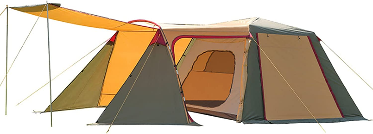 Camping Tent 1 Room Large Space Weatherproof People 8-12 for Super sale period limited Fa Quality inspection