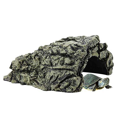 YOUTHINK Cueva de Las Tortugas, Plataforma de Escalada de Las Tortugas Plataforma de Cueva de Ocultación Plataforma de Descanso Acuario Peces Que Esconden el Hábitat Cueva de Descanso para Escala