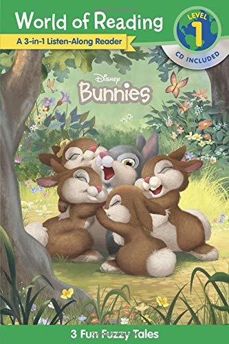 World of Reading Disney Bunnies 3-in-1 Listen-Along Reader (Level 1): 3 Fun Fuzzy Tales