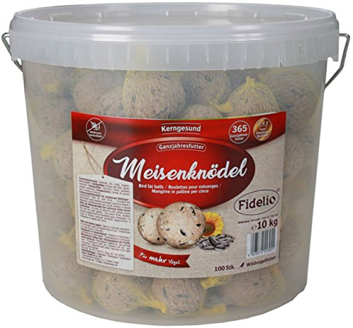 Fidelio Lot de 100 Boules de Graisse avec Filet 10 kg