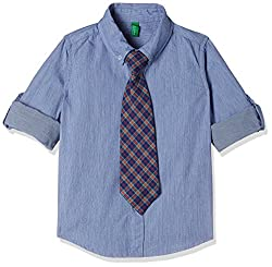 United Colors of Benetton Boys  Plain Regular Fit Shirt