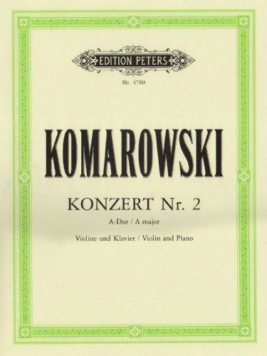 Konzert Nr. 2 A-Dur: Ausgabe für Violine und Klavier