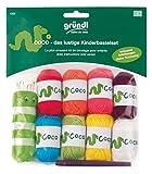 Gründl 1323 Coco Divertente Set per creazioni artistiche, 8 Mini gomitoli Colorati da 10 g, in poliacrilico, con Uncinetto da 3 mm, tricottino e Istruzioni all'Interno