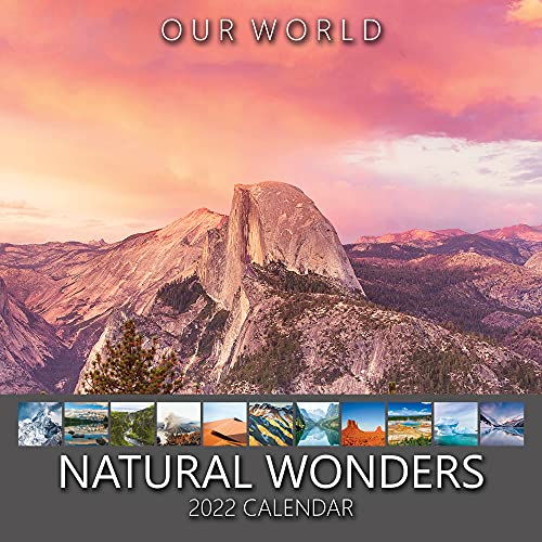 Our World Natural Wonders 2022 Wall Calendar – UK Christmas Gift Stocking Filler. Landscape & Nature Photography Monthly Planner. Large Hanging Grid Organiser for Office, Family & Kitchen