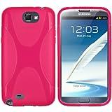 Mumbi - Custodia in silicone TPU-X per Samsung Galaxy Note 2, Rosa