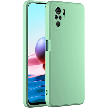 Cresee Compatible with Xiaomi Redmi Note 10 Case, Thin Silicone Cover with Microfiber Interior Camera Protection Anti-Scratch Slim Fit Flexible Phone Case for Redmi Note 10 4G - Green