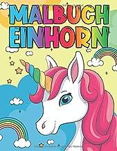 Malbuch Einhorn: Malbuch für Kinder von 4-9 Jahren (German Edition)