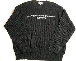 2018AW Supreme/シュプリーム/COMME des GARCONS SHIRT SWEATERセーター/ニット/コムデギャルソンシャツCDG/2018FWブラック/メンズ/サイズM