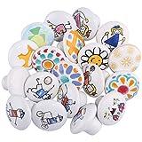 Seciie - Juego de 10 pomos de cerámica para Muebles, para Puertas, armarios, cajones, 3,8 cm, diseño Aleatorio