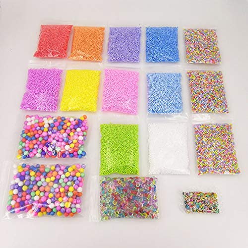 17 Pack Slime Beads Charms Fishbowl Beads Foam Balls Fruit Slices Slime Making Kit DIY Crafts for Soft Clay Home Decor