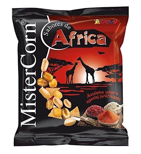 Grefusa - MisterCorn Africa   Cocktail de Frutos Secos con Sabor a Especias Surafricanas - 170 gr