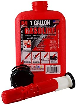 1 Gallon Portable Gas Can Gas Tank with Spill-Proof Spout Design and Locking Cap (EPA and CARB Approved): image