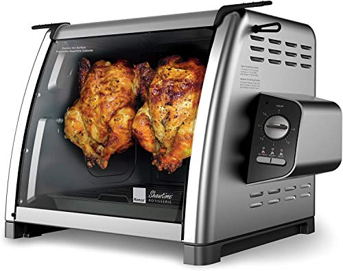 Ronco ST5500BLGEN Rotisserie Oven, Stainless Steel Plus Rotisserie Elastic Food Ties