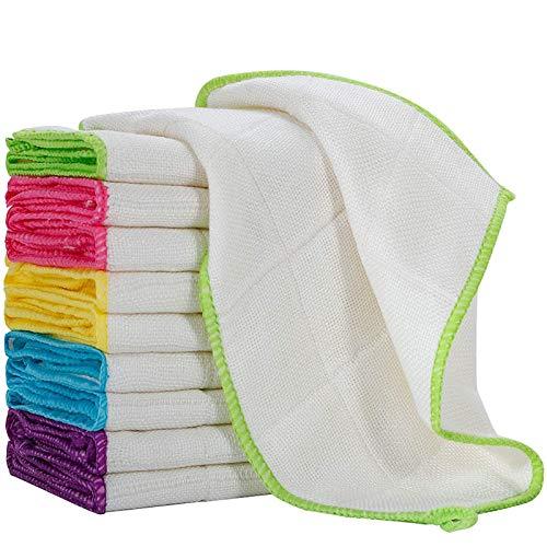 Fibras Vegetales Paños para Platos Toallas Paños para Lavar Platos Trapos Paño de Limpieza de Cocina Absorbente 30x30cm 10 Uds