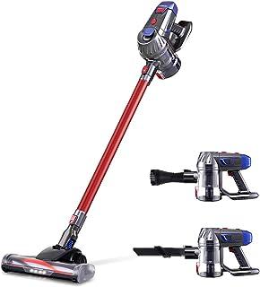 Devanti Handheld Vacuum Cleaner Cordless Stick Handstick Vac Bagless 2-Speed Headlight Red