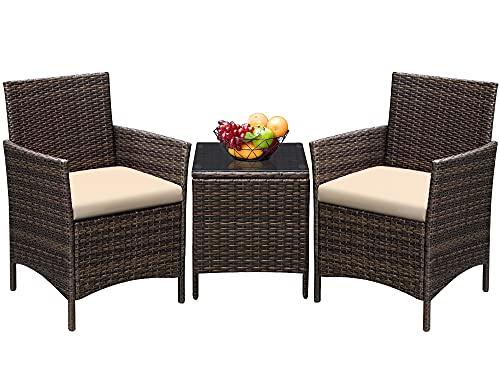 Greesum 3 Pieces GS-3RCS8BG Outdoor Furniture Set