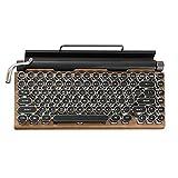 84 teclas Retro Classic Teclado Mecánico, teclado mecánico Bluethooth con cable en modo 5.0 con teclas punk e interruptores azules para Win/Mac/Ios/Linux, Apariencia Vintage