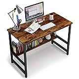 Embrace life 平机 机 デスク シンプルワークデスク パソコンテーブル オフィスデスク 組立簡単一人暮らし 幅80cm×奥行45cm ×74cm 勉強机 復古色