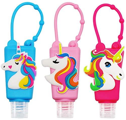 ( PACK OF 4) Hand Sanitizer Holder Keychain Empty Travel Size Hand Sanitizer Keychain For Backpack Small Hand Sanitizer Bottles For Kids Portable Refillable Hand Sanitizer Random Cartoon Characters(PACK OF 4)
