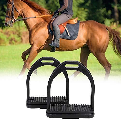 Unbekannt Sicherheitsbügel für Sattel 1 Paar Leichter Langlebiger Pferdebügel für Die Sicherheit Beim Reiten mit Gummipferdematte Kinder Oder Erwachsene -L