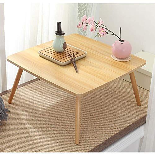 Mesa cuadrada para ordenador portátil de TV, escritorio creativo para desayuno, mesa para leer, ver películas en sofá/sofá (color A, tamaño: 60 x 60 x 30 cm)