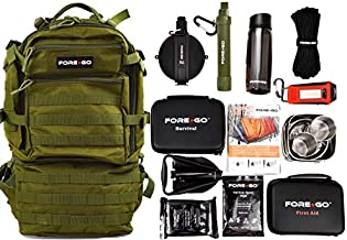 FOREGO Ultimate Adventure & Survival Backpack Kit. It Contains Survival and Outdoor Items to Help You Thrive in The Outside