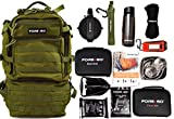 FOREGO Ultimate Adventure & Survival Backpack - Contains Survival, First-aid, and Camping Gear to Help You Thrive Outdoors (Green)