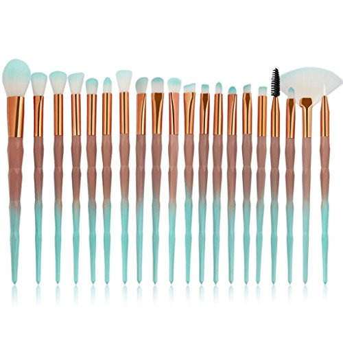 Beauty Zubehör FORH 20PCS Make Up Pinsel Set Professional Kosmetik Pinsel Foundation Eyebrow Eyeliner erröten kosmetische Concealer Brush Pinselsets (A)