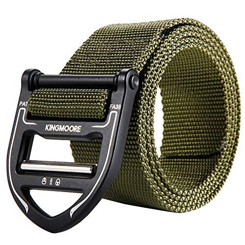Buy Discount KingMoore Tactical Belt, Military Style Webbing Riggers Nylon Belt with Heavy-Duty Meta...