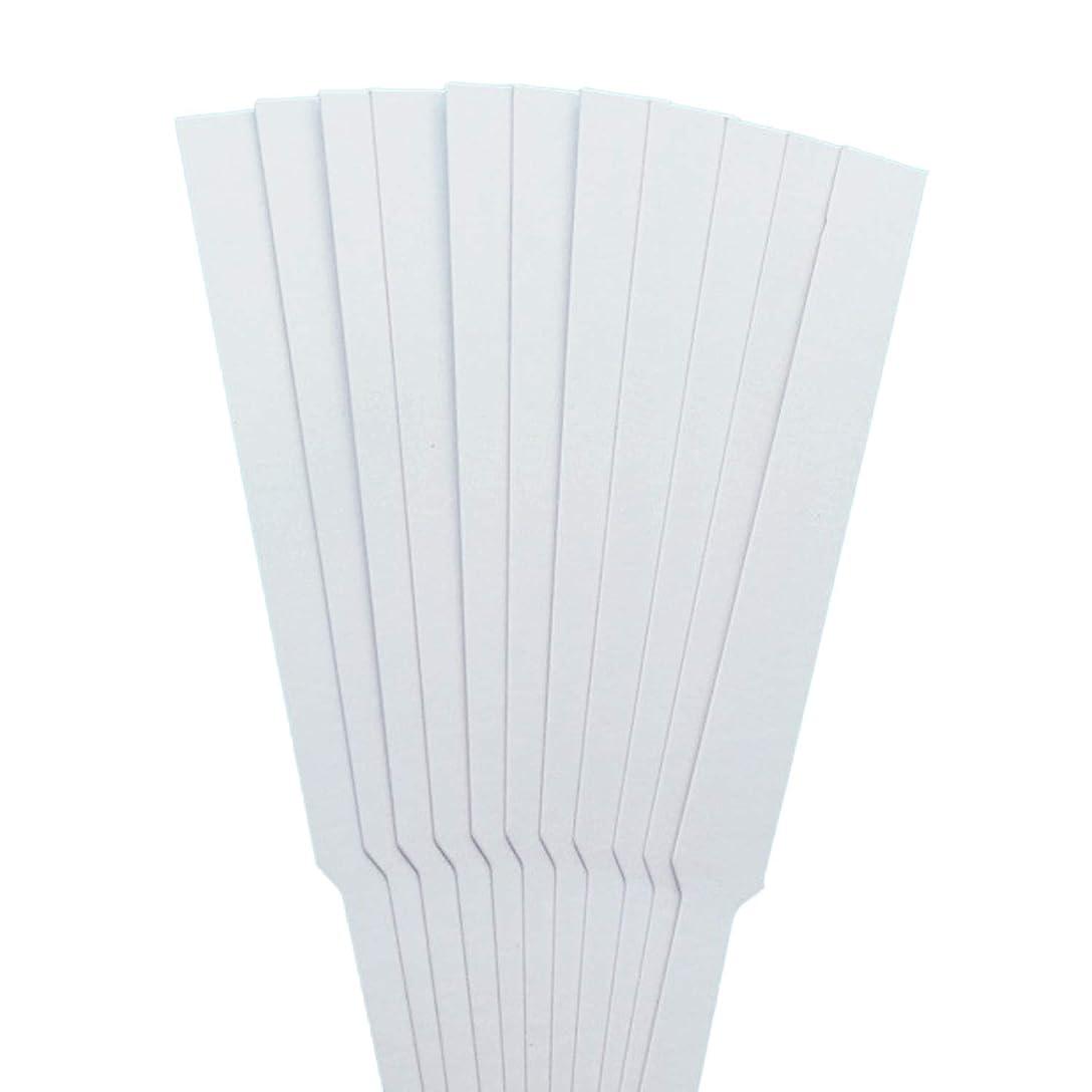 手書き取り扱いルビーストリップテスト migavann テストストリップ 香りのアロマセラピーエッセンシャルオイルをテストするための100個の130×12ミリメートルの香水試験紙ストリップ