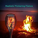 Nekteck Outdoor Torch Light with Star Design, Flickering Dancing Flames, Waterproof Solar Powered LED Landscape Decoration for Yard Pool Patio Garden Pathway Walkway 4 Pack Realistic Flickering Flames