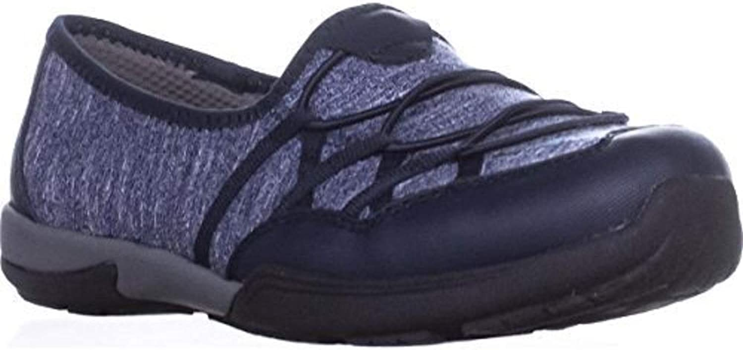 Bare Traps Womens Holeigh Fabric Low Top Slip On Walking shoes, Navy, Size 8.0