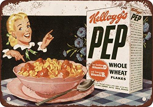 Kellogg's PEP Flakes 1948 Plaque métallique rétro 30,5 x 45,7 cm