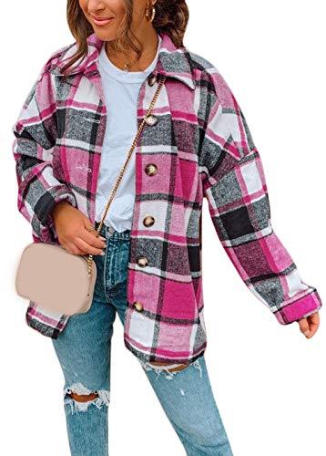 Tomwell Chaqueta Moto Mujer de Cuero Urban Leather Chaqueta Cuero Mujer Cazadora Moto de Piel de Cordero Armadura Removible para Espalda, Hombros y Codos Aprobada Rosa Roja 3XL