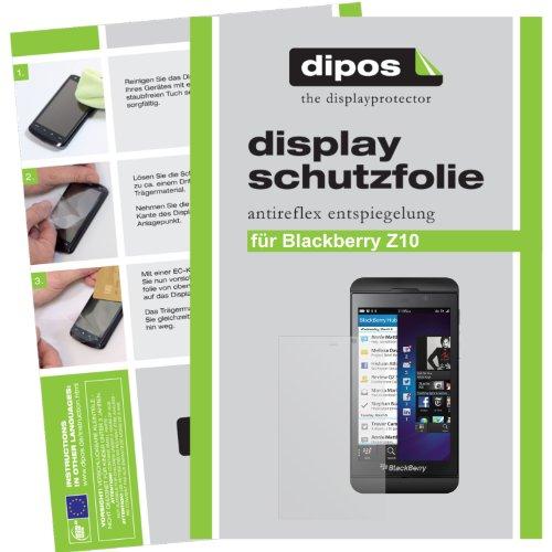dipos I 2X Schutzfolie matt kompatibel mit BlackBerry Z10 Folie Bildschirmschutzfolie