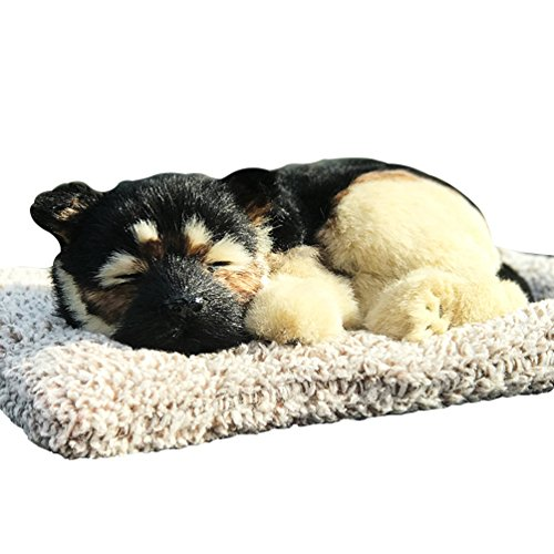 Vsing Realistic Dog Toy- Adorable Sleeping Puppy with 100% Handcrafted Artificial Fur for Decoration and Gift (German Shepherd)